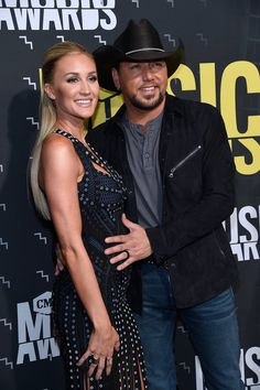 Jason Aldean with wife, Brittany at CMT Awards 2017