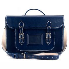 Royal King Blue     15inch(39cm) - KING SHAKA would be proud of this gorgeous blue satchel colour. It's deep rich undertones looks just as good teamed with jeans as it does rocked with a suit! Power dressing to the max or contempo casual!   The 15 inch satchel - aka Biggie - is the perfect size for those 'lots to do, loads to haul around' kinda people. It easily accommodates stacks of paperwork, a small laptop or macbook, iPads, flip files and more. We even know a guy who takes all of the…