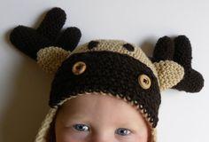 Moose Chrochet Hat