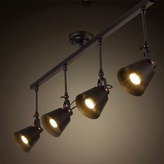 wholesale industrial retro loft track light creative loft ceiling light for cafe…