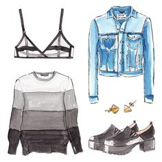 Good objects - @thecashmereshop #cashmere #sweater #acnestudios #watercolor #illustration