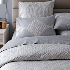Organic Diamond Texture Duvet Cover + Shams #WestElm