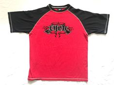 Vintage JNCO Jeans Thick Fuzzy Crown Spell Out graffiti Logo T-Shirt Hip Hop In Excellent used Condition no tears or stainsminor fading from wear. Please observe pictures for measurements Size XL Shipping within 24 hours of purchase. Jnco Jeans, Nu Metal, Spelling, Juice, Goth, Crown, Mens Tops, T Shirt, How To Wear