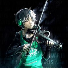 ((Open RP)) I step into the maid café, having come from after school practice with my electric violin enclosed in its case, weighing down my hand and my headphones resting about my neck.