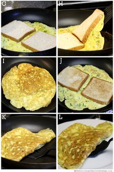 Egg omelet or egg omelette recipe-Indian style bread egg omelet recipe with step by step pictures.Egg paratha,egg toast,egg paratha roll,bread egg omelet are few quick breakfast ides. Egg Omelette Recipe, Quick Vegetarian Meals, Comida Latina, Unique Recipes, Street Food, Breakfast Recipes, Yummy Food, Favorite Recipes, Recipe Steps