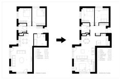 Apartment in Vilnius 2 by Normundas Vilkas Classic Interior, Modern Interior, Interior Styling, Interior Architecture, Scandinavian Modern, House 2, Apartment Interior, Floor Plans, How To Plan