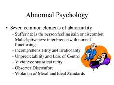 abnormal psychology - Google Search