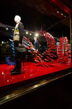 The Fendi Paper Planes invasion at the Harrods boutique in London.