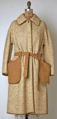 Ensemble Bonnie Cashin (American) ca. spring/ summer 1973 wool, leather, metal