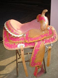Pink Saddle by Saddle King...I mean i love Pink but wow this is a little gaudy.