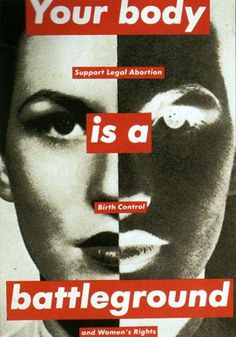as true 23 years ago as it is today.  infuriating & sad that we are still going round like this.  Barbara Kruger, Untitled, 1989.