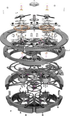 The Watch Quote: The Roger Dubuis Excalibur Spider Skeleton Double Flying Tourbillon watch - Technical Skeletons