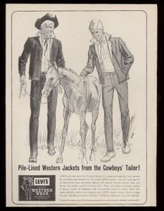 Western Theme, Western Wear, Vintage Jeans, Vintage Outfits, Civil Rights March, Levi Strauss, Print Ads, Retro, Vintage Advertisements