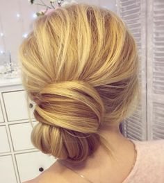 Low+Knotted+Bun+Updo