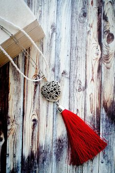 Red And Blue, Dark Blue, Tassel Necklace, Necklaces, Double Chain, Stainless Steel Chain, White Beads, Something Beautiful, We The People