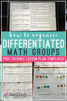 How to Plan & Organize Your Guided Math Groupshow to organize differentiated math groups - free lesson plan templates and check lists. Math Lesson Plans, Lesson Plan Templates, Math Lessons, Math Tips, Math Rotations, Math Centers, Numeracy, Guided Math Groups, Math Coach