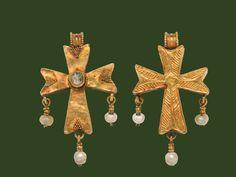 Pendant cross, Byzantine, early 6th century.