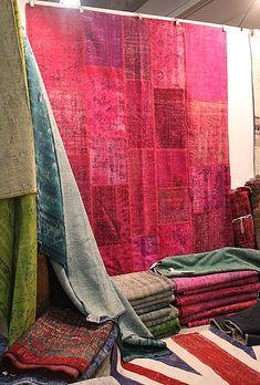 Elka Karl Nomadic Trading Company's reclaimed overdyed rugs