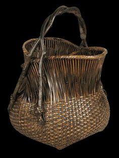 Basket. Shōun, (Ishikawa Shōun, 1895 -1973). Shōwa Era, circa 1930
