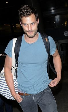 Jamie Dornan arriving in Los Angeles, Ana Steele, Shades Of Grey Movie, Jaime Dornan, Irish Men, Christian Grey, Beautiful Gorgeous, Fifty Shades, Perfect Body, Traveling By Yourself