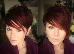 Rojo Capas de Pelo Pixie