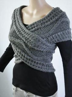 Really need to figure out how to knit something like this wrap.