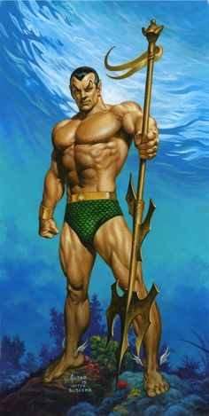 Sub-Mariner Corner Box by Joe Jusko Comic Art