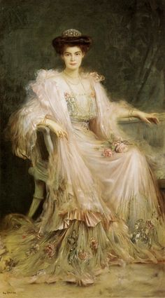 LARGE SIZE PAINTINGS: Caspar RITTER Crown Princess Cecilie of Prussia 1908