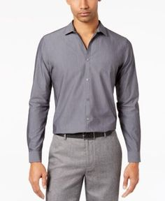 Calvin Klein Men's Infinite Slim Fit Shirt - Blue 2XL
