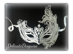 White Phoenix Empress Masquerade Mask  by DelicateDisguise on Etsy, $29.99