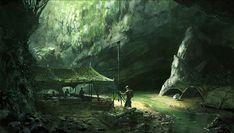 Underground Military Encampment - Crysis Concept Art