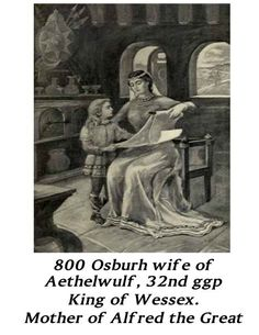 Osburh, wife of Aethelwulf, mother of King Alfred