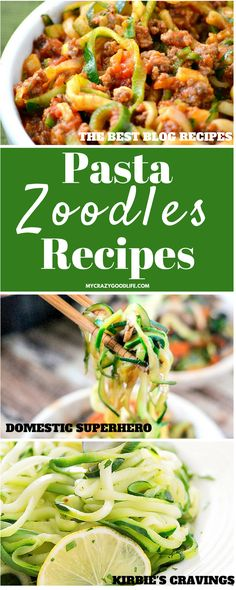 Pasta Zoodles Recipes are trending right now! Almost any pasta recipe can be made with zoodles–here are some pasta recipes for you to try with zucchini noodles!