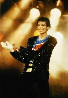 Michael Jackson during the Victory Tour (1984). Michael was 26 years old.