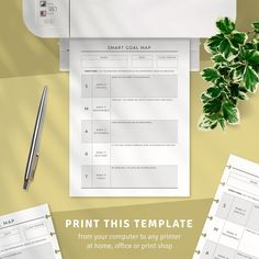 This collection of Goal Setting Worksheet For Students PDF Templates is full of ready-made professionally-designed templates. Use it to make your life more balanced and efficient. Utilizing a minimal style, it keeps your plan clear, simple and effective. Goal Setting Worksheet, College Planner, Planner Organization, Planner Template, Worksheets, Printer, Goals, Minimal Style, Templates