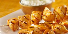 Brochettes de poulet sauce soja sucrée