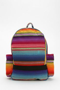 Check out this Hiptipico Remolacha Stripe Backpack! Visit your new Lower Manhattan Urban Outfitters. Coachella, Urban Outfitters, Striped Backpack, Canvas Backpack, Cute Bags, Wallets For Women, Handbag Accessories, Cotton Canvas, Diaper Bag