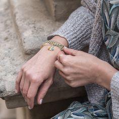 "Kit bijou ""Arènes de Lutèce"" Bracelet petit pois - Aime comme Marie Aime Comme Marie, Swarovski Crystals, Kit, Bracelets, Resin, Enamel, Board, Rings, Snap Peas"