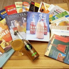 """Did you know that at our Kombucha Cafe in Berlin @cafe.baerbucha,we have a Kombucha Book Library.  Right now we have 24 different books in two different languages, 18 in German & 6 in English. When you stop in, you can check them out, while sipping our booch. With titles like """"Naturally Healing with Kombucha"""" or """"Kombucha - an Old Tea Health Product that Gives You a New Health"""" by Dr. med. Helmut Golz, you might even discover something new. #bärbuchakombucha #kombucha…"""