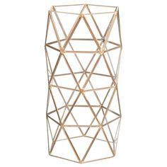 TRIANGLES metal and glass vase