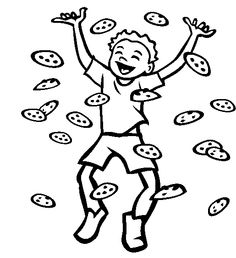 raining chocolate chip cookies coloring pages cookie coloring pages kidsdrawing free coloring pages