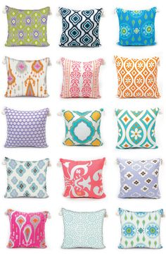 Need new throw pillows? Yes, you Deux! Shop decorative pillows at www.leighdeux.com for home and dorm