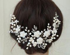 Establece 3 horquillas de novia accesorios Wedding del pelo