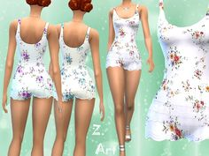 The Sims Resource: Short Jumpsuit by Zuckerschnute20 • Sims 4 Downloads