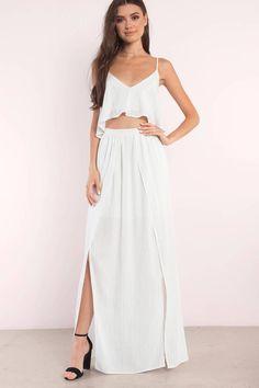 78b3a7534edb Loni Ivory Multi Striped Maxi Dress White Maxi Dresses