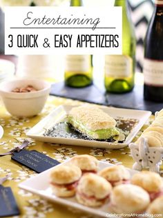 three quick and easy appetizers