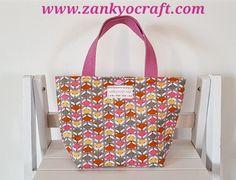 Foxy Corduroy Mini Tote Bag by Zankyo Craft