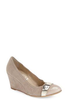 1c7ad28d2bdf Naturalizer Women s Contrast Narrow Medium Wide Peep Toe Wedge at Famous  Footwear