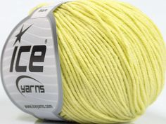 Fiber Content 50% Acrylic 50% Cotton Lemon Yellow Brand Ice Yarns fnt2-43836