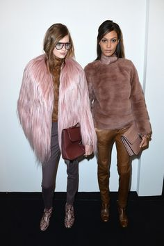 Candy floss fur and snakeskin boots backstage at Gucci AW14 MFW. More images here: http://www.dazeddigital.com/fashionweek/womenswear/aw14